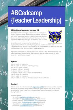 #BCedcamp {Teacher Leadership}