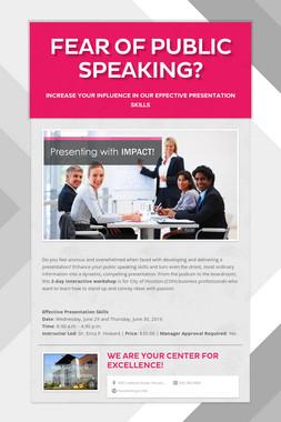 Fear of public speaking?