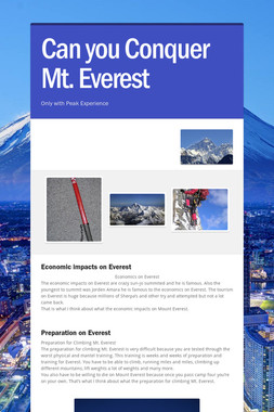 Can you Conquer Mt. Everest
