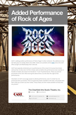 Added Performance of Rock of Ages