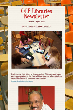 CCE Libraries Newsletter