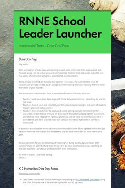 RNNE School Leader Launcher