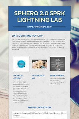 Sphero 2.0 SPRK Lightning Lab