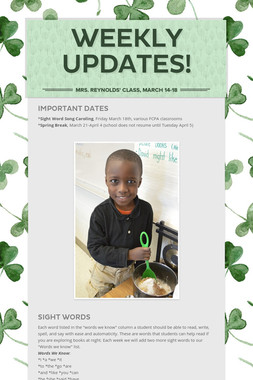 Weekly Updates!