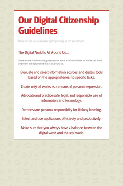 Our Digital Citizenship Guidelines
