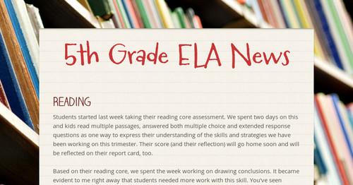 5th Grade ELA News | Smore Newsletters