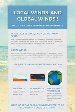 Local Winds, And Global Winds!!