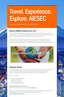 Travel. Experience. Explore. AIESEC