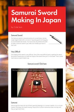 Samurai Sword Making In Japan