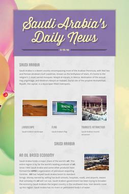 Saudi Arabia's  Daily News