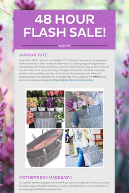 48 hour FLASH sale!