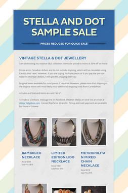 Stella and Dot Sample Sale