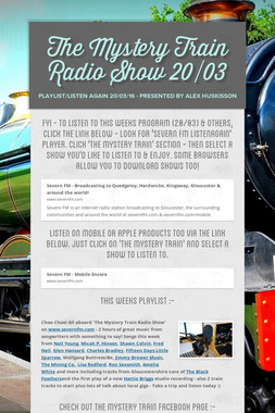 The Mystery Train Radio Show 20/03