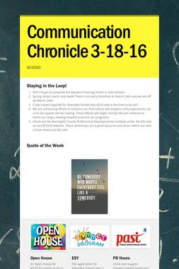 Communication Chronicle 3-18-16