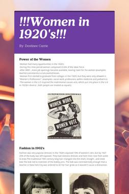 !!!Women in 1920's!!!