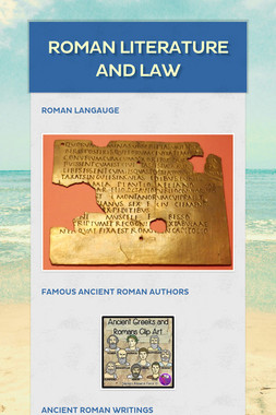 Roman literature and law