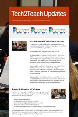 Tech2Teach Updates