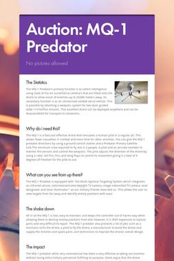 Auction: MQ-1 Predator