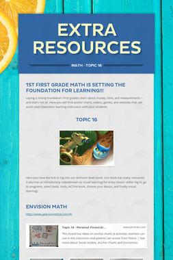 Extra Resources
