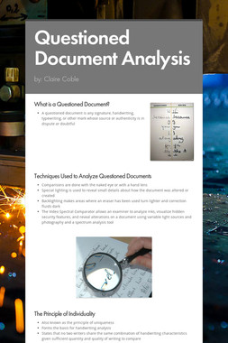 Questioned Document Analysis