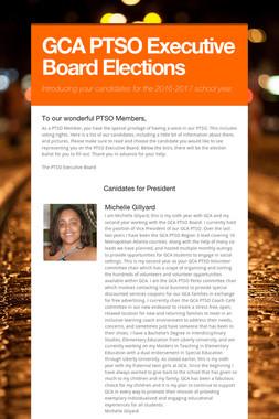 GCA PTSO Executive Board Elections