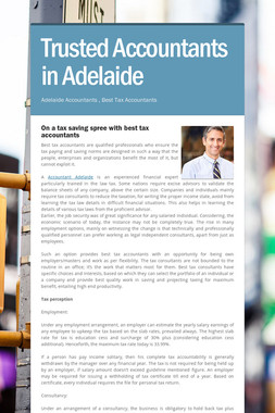 Trusted Accountants in Adelaide