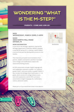 """Wondering """"What is the M-STEP?"""""""