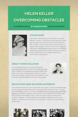 Helen Keller Overcoming Obstacles