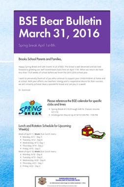 BSE Bear Bulletin March 31, 2016