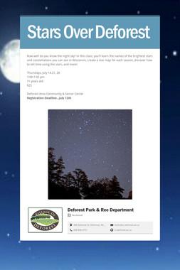 Stars Over Deforest