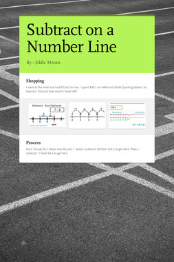 Subtract on a Number Line