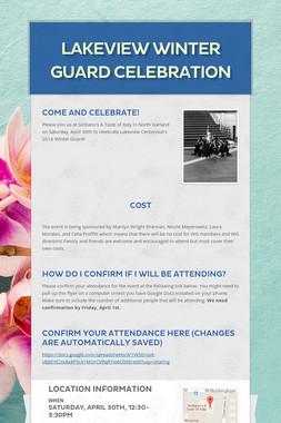 Lakeview Winter Guard Celebration