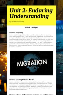 Unit 2:  Enduring Understanding