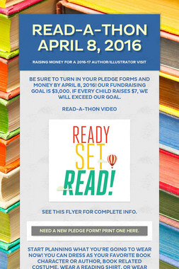 Read-a-Thon April 8, 2016
