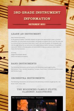 3rd Grade Instrument Information