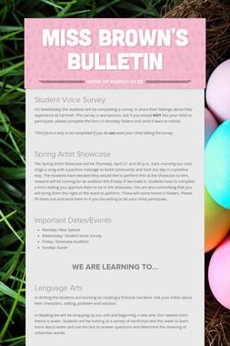Miss Brown's Bulletin