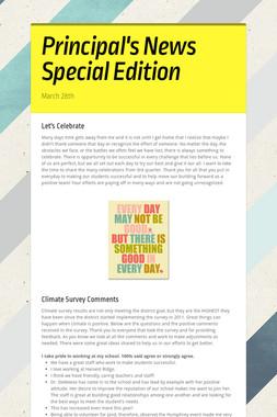 Principal's News Special Edition