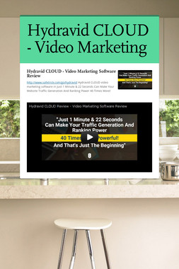 Hydravid CLOUD - Video Marketing