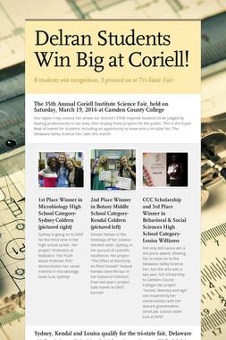 Delran Students Win Big at Coriell!