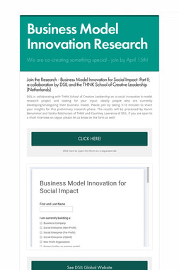 Business Model Innovation Research