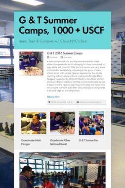 G & T Summer Camps, 1000 + USCF