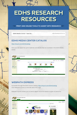 EDHS Research Resources