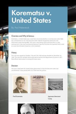 Korematsu v. United States