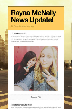 Rayna McNally News Update!
