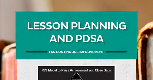 Lesson Planning And PDSA