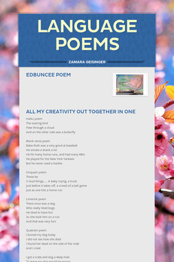Language poems