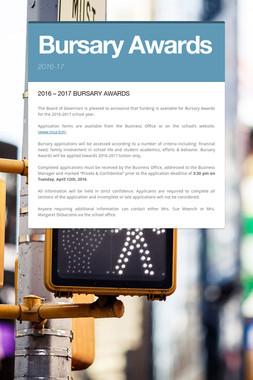 Bursary Awards