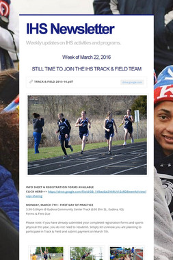 IHS Newsletter