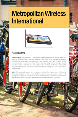 Metropolitan Wireless International