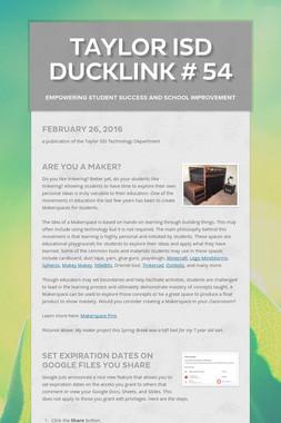 Taylor ISD DuckLink # 54